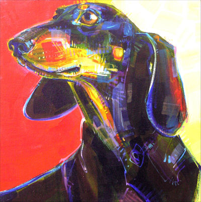 pet portrait painted by Oregon artist Gwenn Seemel