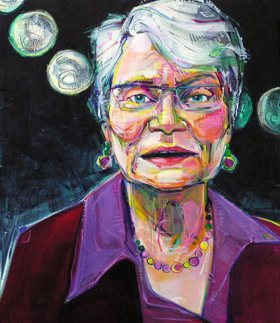 Frances Kaplan portrait painted by Jersey artist Gwenn Seemel