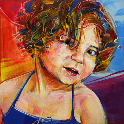 fine art portrait of a girl painted by Gwenn Seemel
