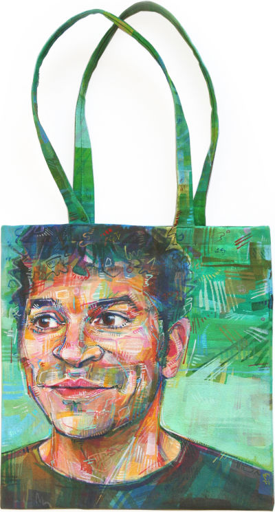 Jimmy Radosta You Bag portrait by Gwenn Seemel