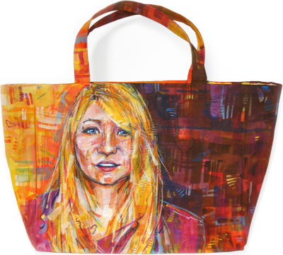 Megan Ward portrait painted in acrylic by Portland artist Gwenn Seemel