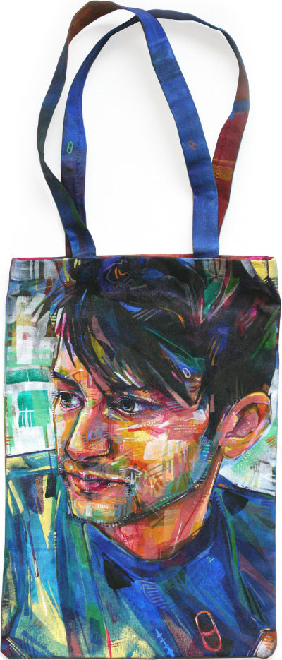 Jesse Morgan Young portrait tote bag