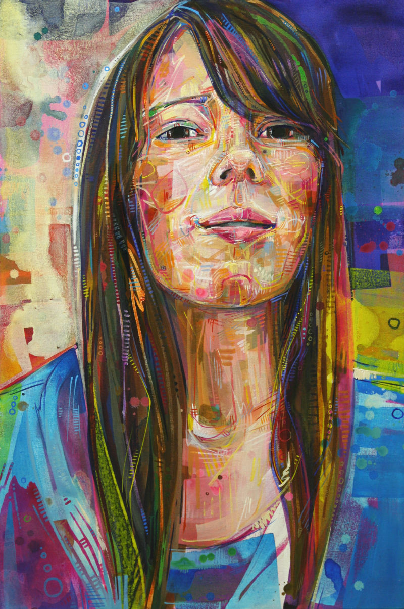 painted portrait Gwenn Seemel