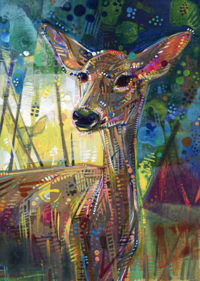 painting of a deer