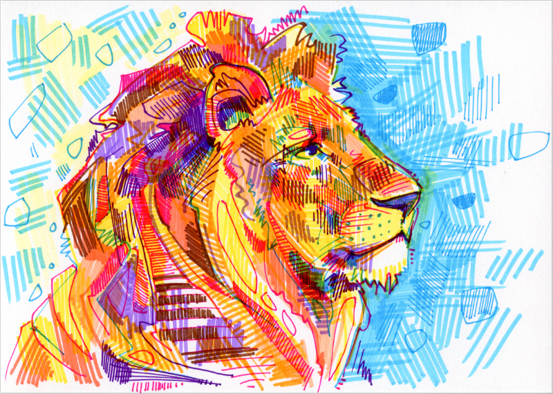 illustration d'un lion