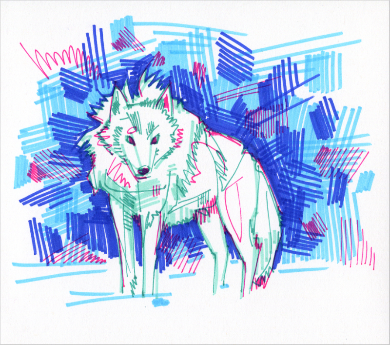 loup illustration