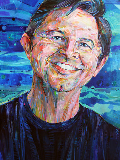 Jeff Sponaugle portrait by Gwenn Seemel