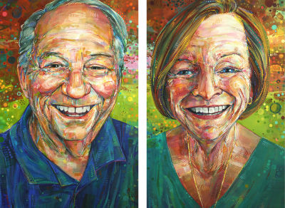 commission portraits of a husband and wife