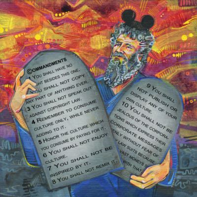 Moses with the copyright commandments