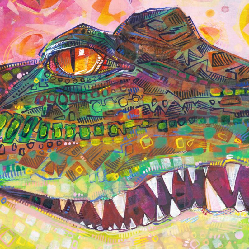 crocodile painting