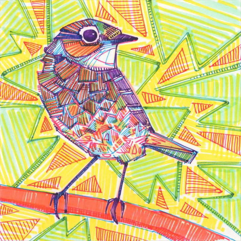 sparrow art