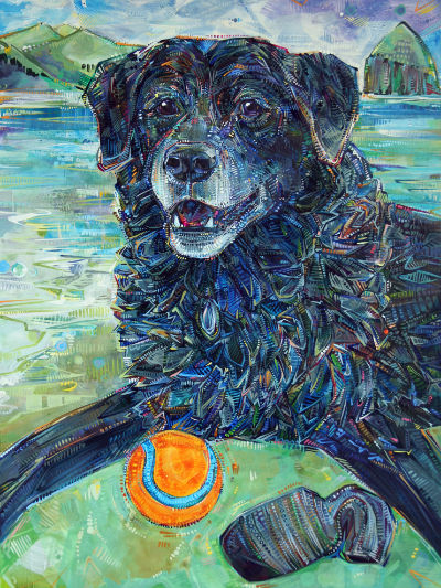 pet portrait by American painter Gwenn Seemel