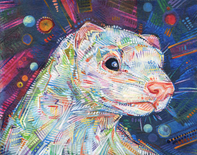 pet ferret painting