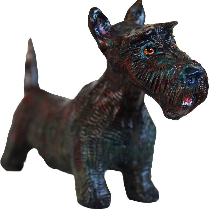 scottish terrier sculpture
