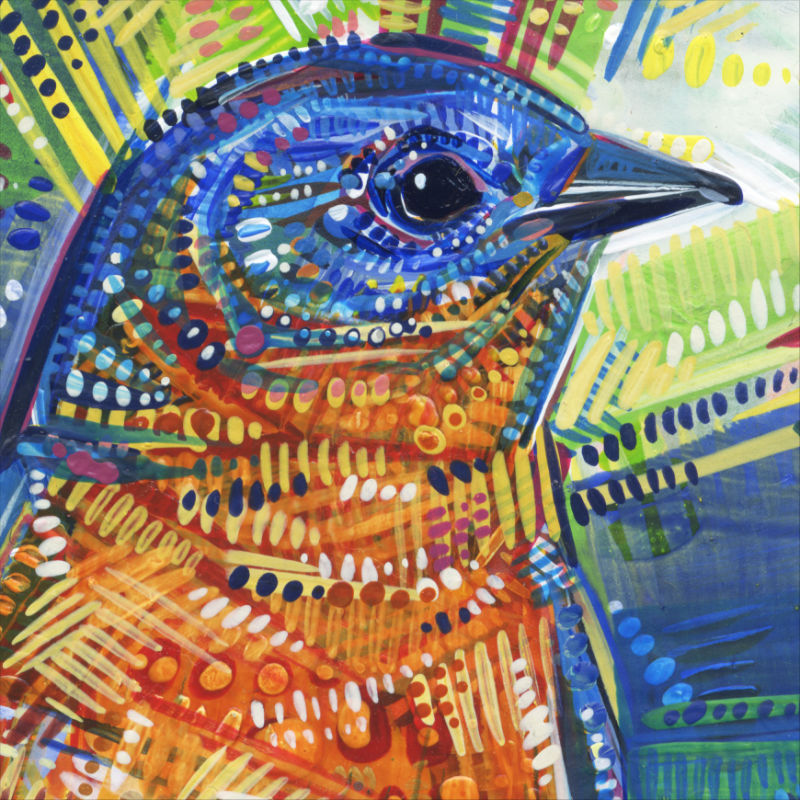 bluebird painting art