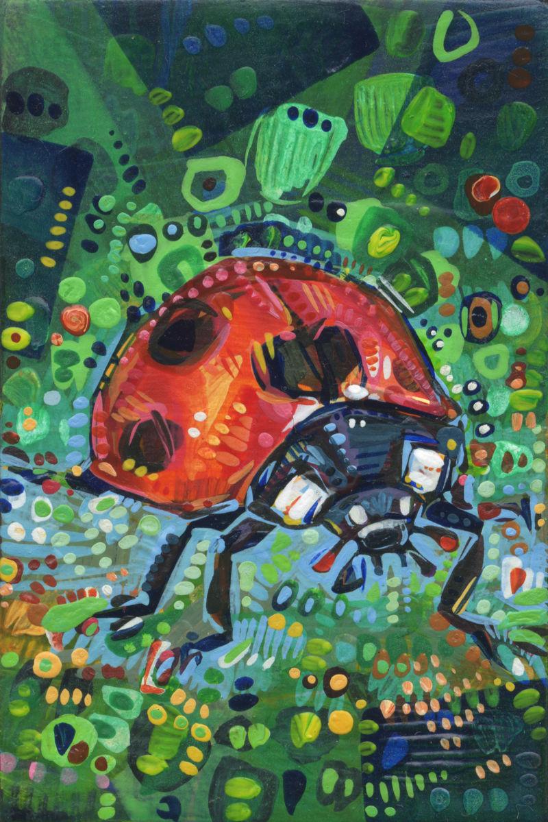 ladybug painting art