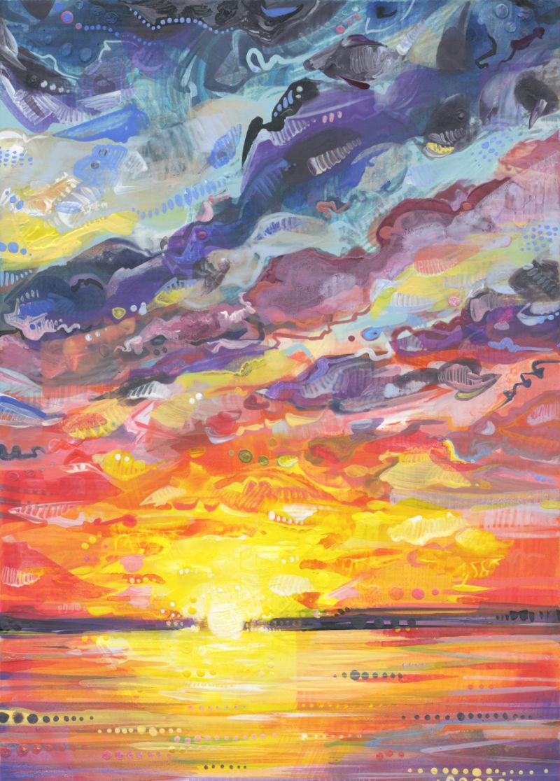 portrait of a sunset, Long Beach Island