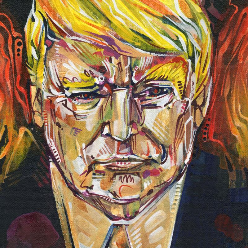 Trump as a Tiki torch