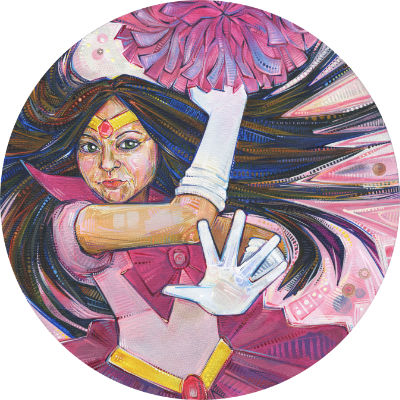 Asian-American woman painted as one of the Sailor Moon characters