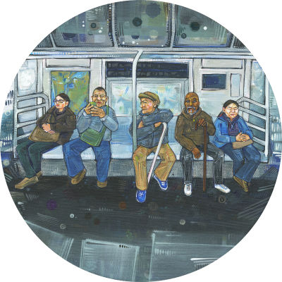 painting of the New York subway
