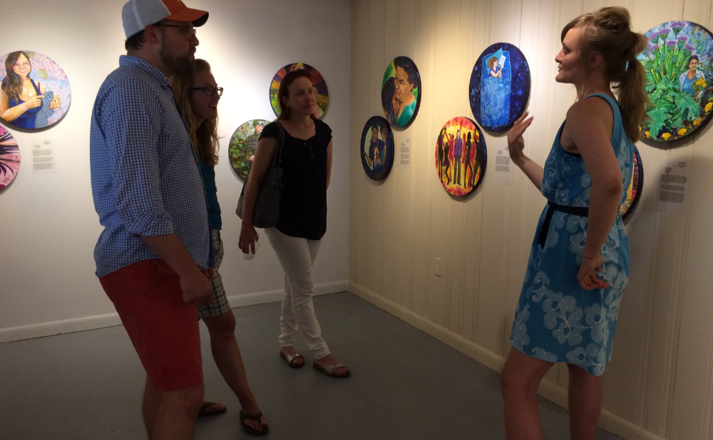 Gwenn Seemel at an opening for Empathetic Magic at the MT Burton Gallery in Surf City, New Jersey