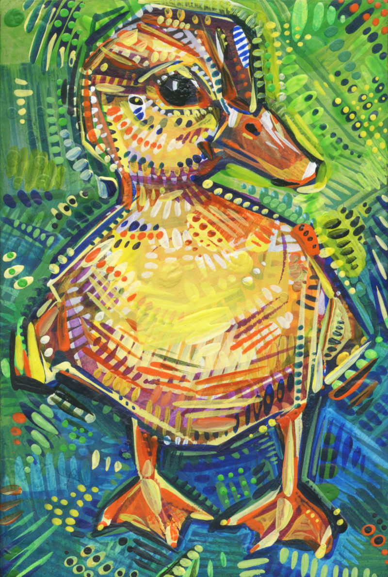 duckling painting art