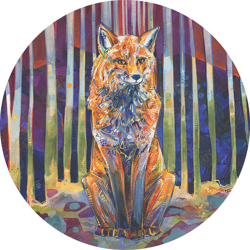fox painting art