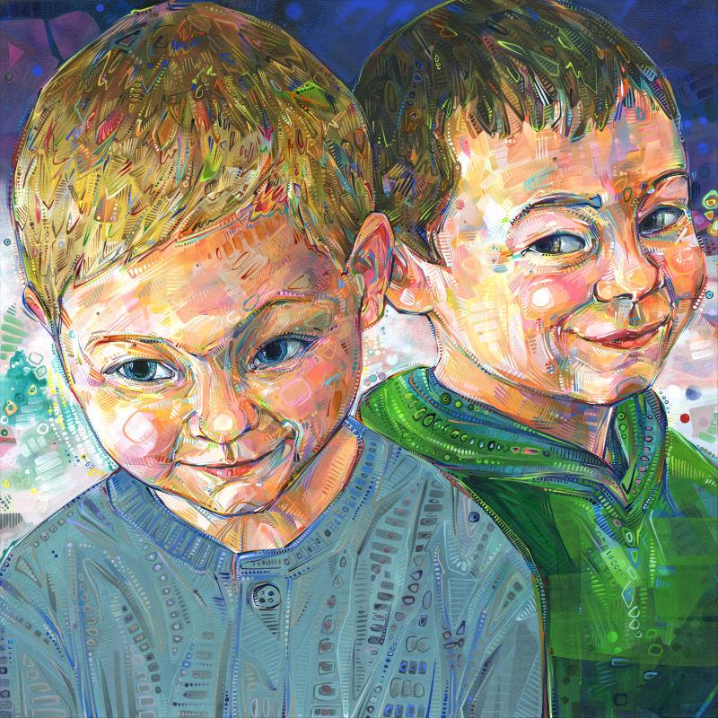 Gwenn Seemel painting