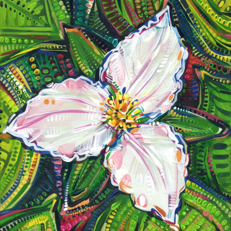 tiny flower painting