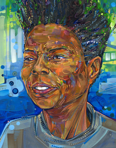 acrylic painting of a black woman