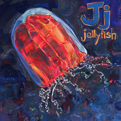 J is for jellyfish, image pour un livre d'alphabet anglophone