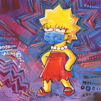 Lisa Simpson porte un masque