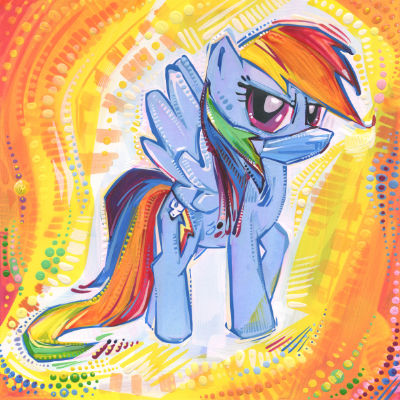 Rainbow Dash porte un masque
