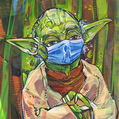 "Yoda says ""wear a mask, you must"""