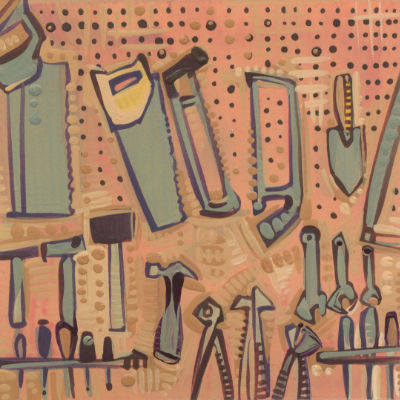 tool wall illustration by independent artist Gwenn Seemel