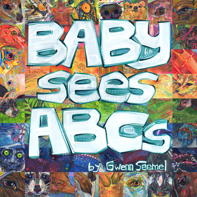 Baby Sees ABCs, word search and baby name book by Gwenn Seemel