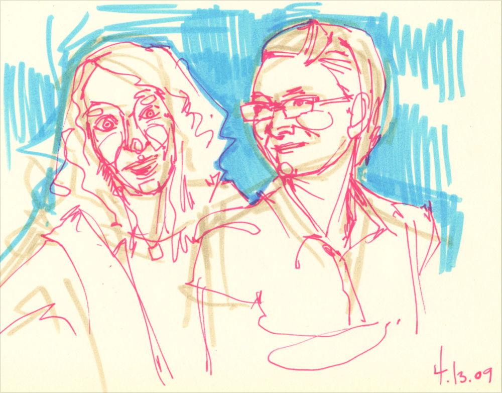 dessin pour un double portrait