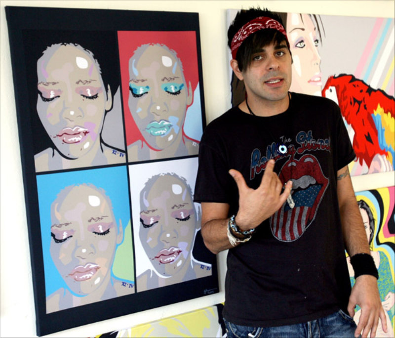 Sham Ibrahim with his Rihanna print