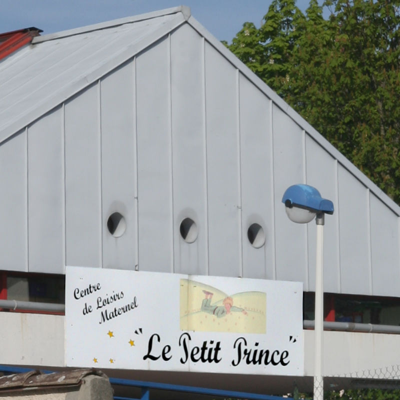 Antoine de Saint-Exupery's Little Prince on a pre-school sign