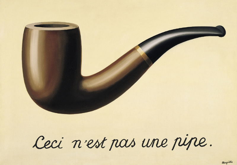 Rene Magritte's The Treachery Of Images 1929