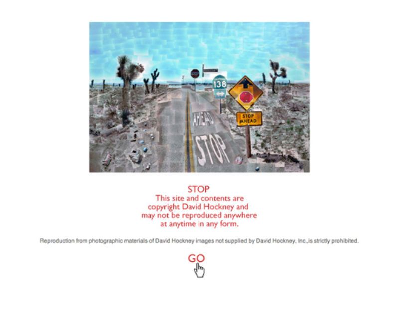screenshot of David Hockney's website