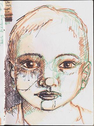 Joyce van der Lely drawing