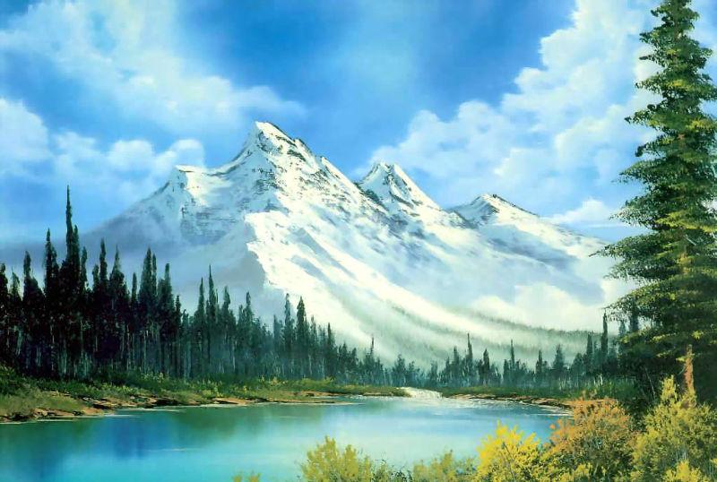 Bob Ross landscape