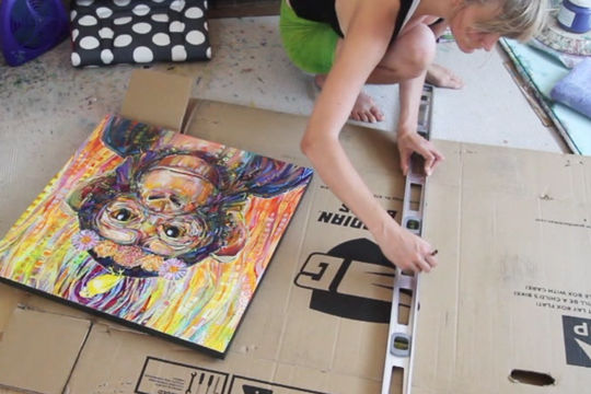 boxing up a painting